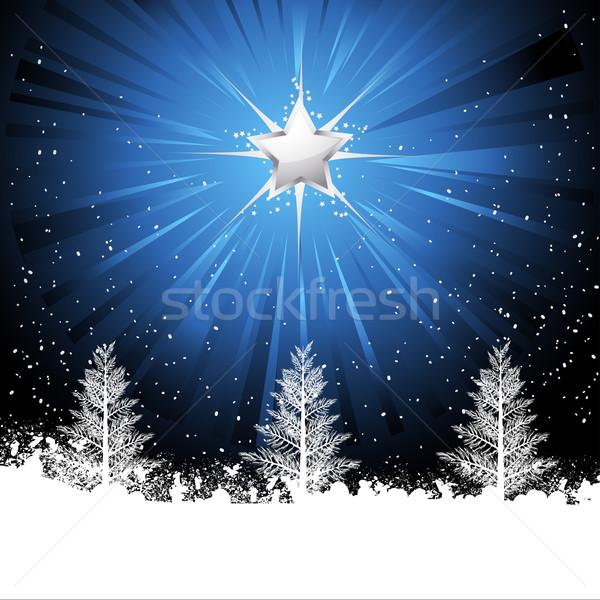 Brillant Noël star arbres étoiles Photo stock © elaine