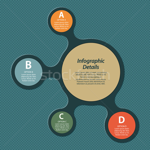 metaball infographic Stock photo © elaine