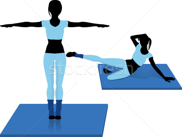 aerobics silhouettes Stock photo © elaine