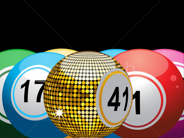 Stock photo: Lucky gold bingo ball