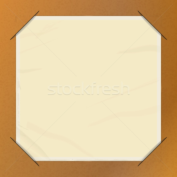 Brown paper picture holder copy space Stock photo © elaine