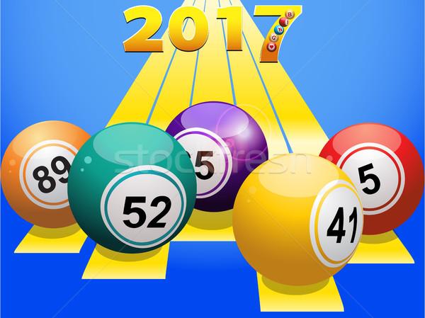 Bingo giallo numeri blu Foto d'archivio © elaine