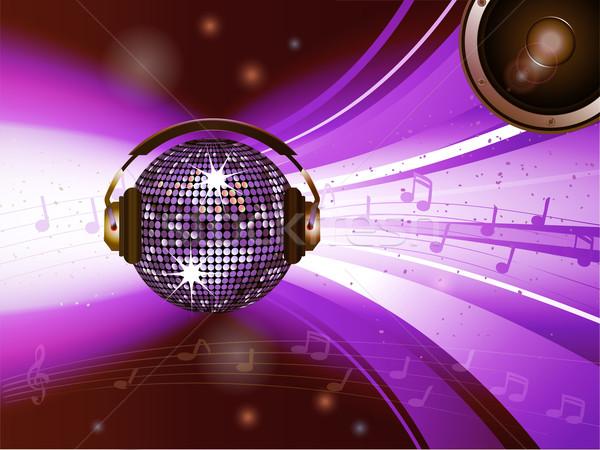 Pink disco ball with headphone and speaker  Stock photo © elaine