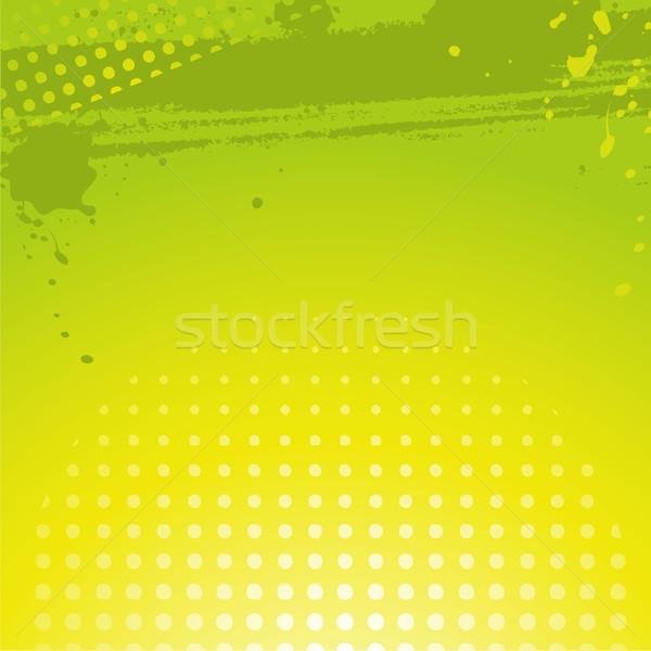 Сток-фото: аннотация · зеленый · Гранж