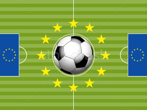 サッカー サッカー ピッチ ヨーロッパの フラグ フラグ ストックフォト © elaine