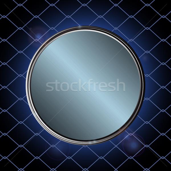 Kék fémes keret fekete ketrec net Stock fotó © elaine