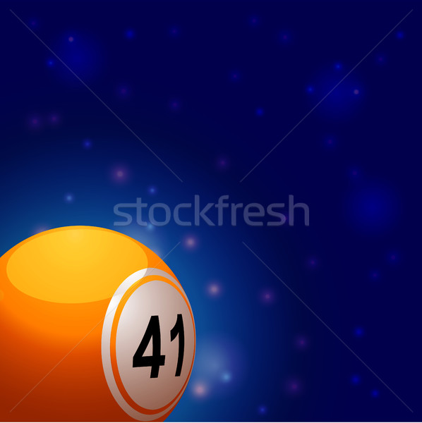 Bingo ball into space background Stock photo © elaine