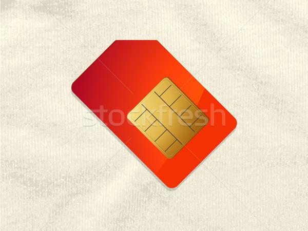 赤 金 電話 カード 素材 影 ストックフォト © elaine