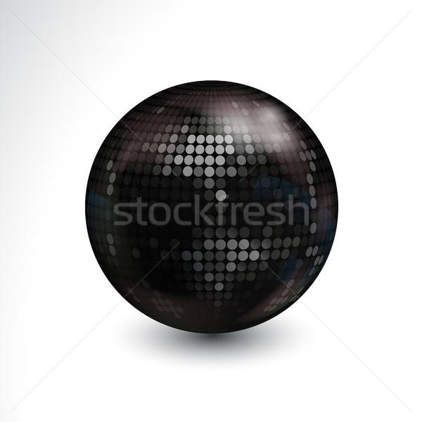 Nieuwe 3D disco ball witte 3d illustration zwarte Stockfoto © elaine