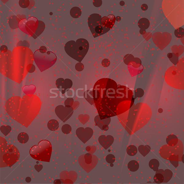 Walentynki czerwony serca circles serca romans Zdjęcia stock © elaine