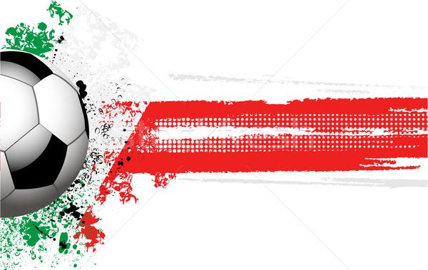 Bandera italiana fútbol grunge estilo deporte fondo Foto stock © elaine