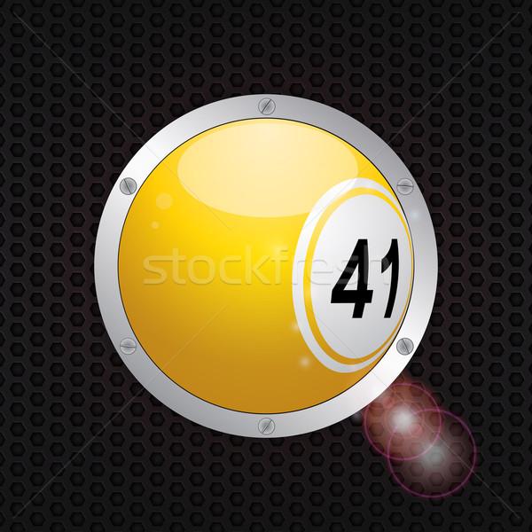 Bingo bal metalen frame Geel 3D Stockfoto © elaine