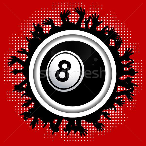 Numero otto bingo lotteria palla folla Foto d'archivio © elaine
