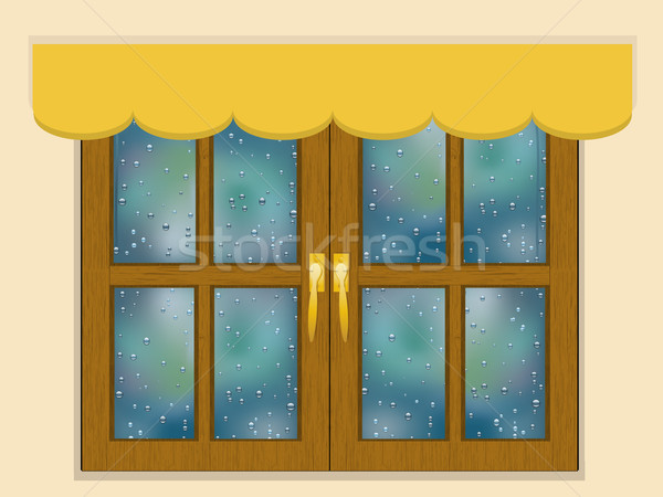 Rainy day window Stock photo © elaine
