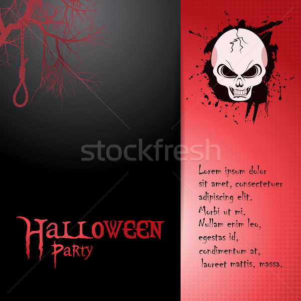 Halloween invite with skull and text Stock photo © elaine
