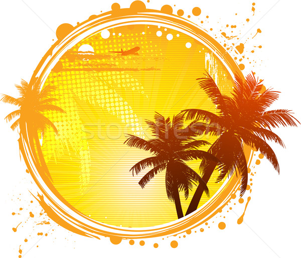 Tropical paradise circle Stock photo © elaine