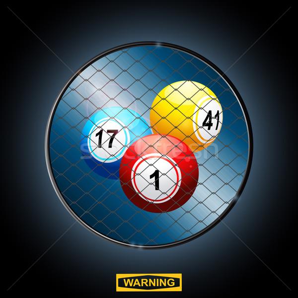 Bingo grens kooi Stockfoto © elaine