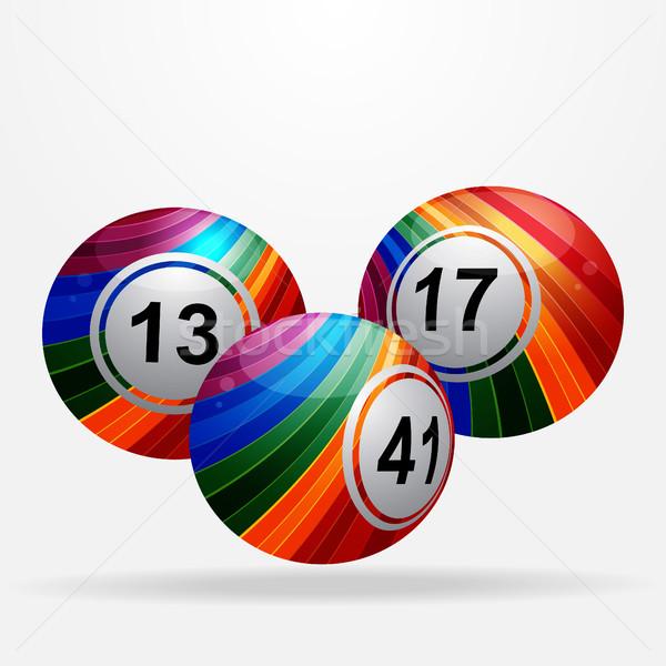 Gestreept bingo loterij witte drie Stockfoto © elaine