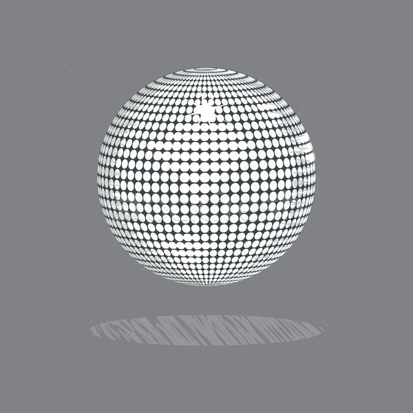 Drawing style disco ball on gray background Stock photo © elaine