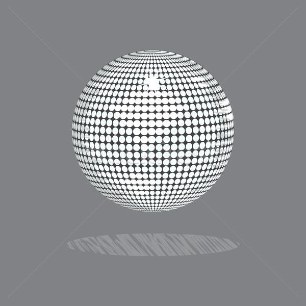 çizim stil disko topu gri örnek beyaz Stok fotoğraf © elaine