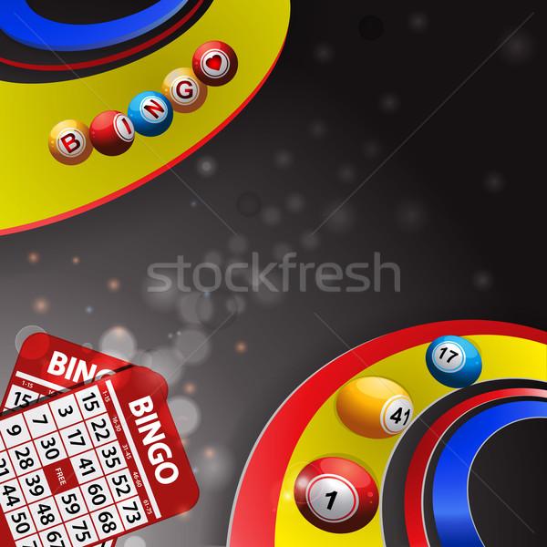 Bingo remolino tarjetas Foto stock © elaine