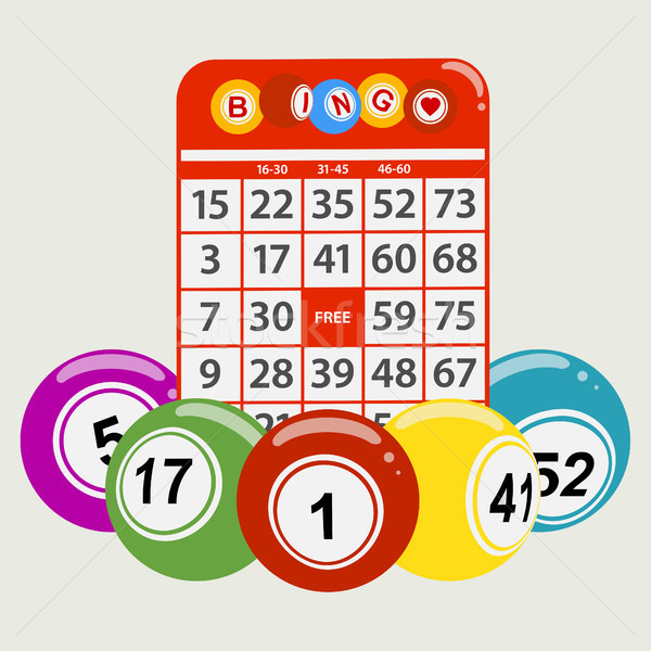 Stijl bingo Rood kaart rond Stockfoto © elaine