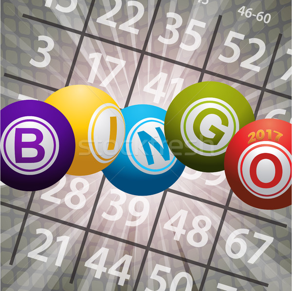 Bingo números abstrato vinte dezessete Foto stock © elaine