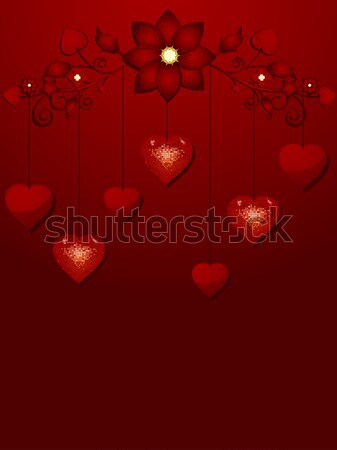 dangling valentine hearts Stock photo © elaine