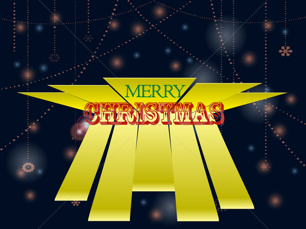 Navidad texto decorado alegre 3D Foto stock © elaine