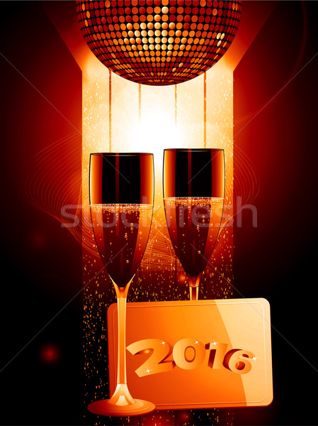 Champagne goud bericht tag 2016 viering Stockfoto © elaine