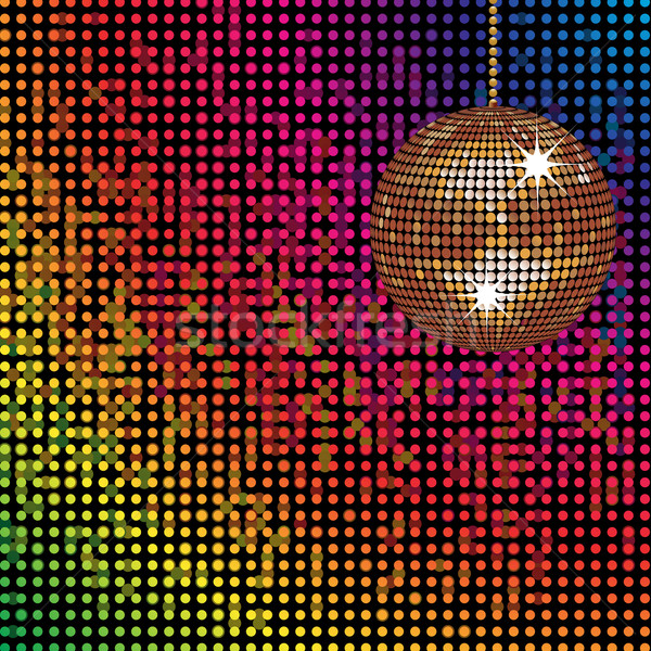 sparkling disco ball and colourful mosaic lights Stock photo © elaine