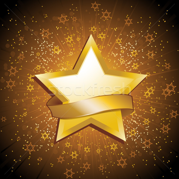 Gold celebration star Stock photo © elaine