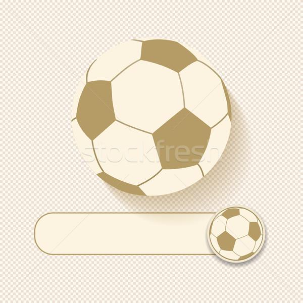 футбола баннер коричневый кремом мяча игры Сток-фото © elaine