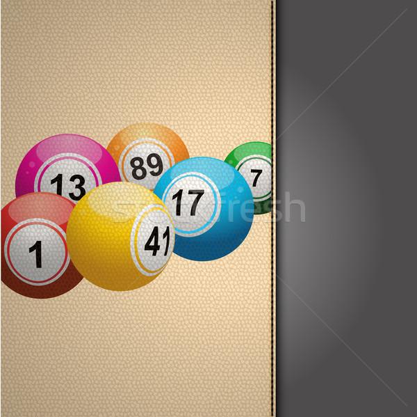 Bingo agenda crema pelle coprire Foto d'archivio © elaine