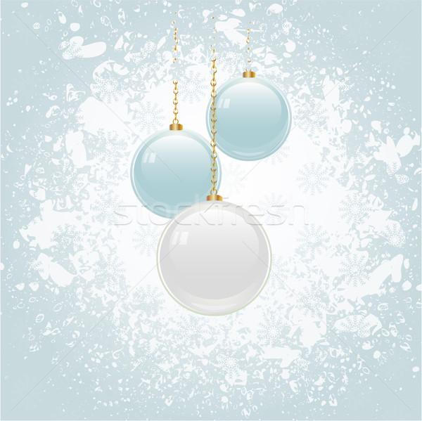 グランジ クリスマス 青 白 背景 ストックフォト © elaine