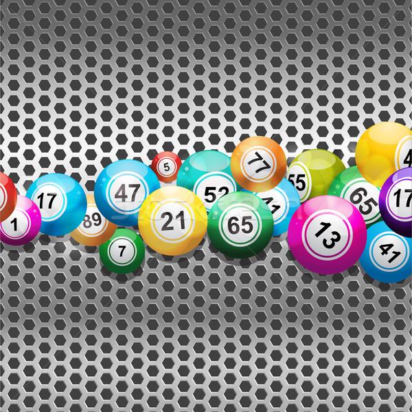 Bingo zilver metalen 3D Stockfoto © elaine
