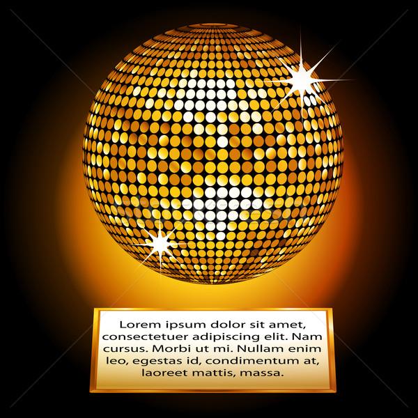 Arany diszkógömb fogkő minta szöveg Stock fotó © elaine