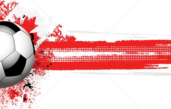 Canadian flag and football Stock photo © elaine