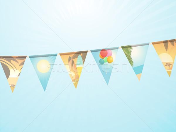 休日 装飾された 水色 晴れた 空 ストックフォト © elaine