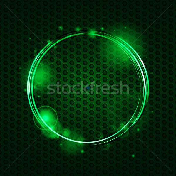Abstract green mesh and glowing circle background Stock photo © elaine
