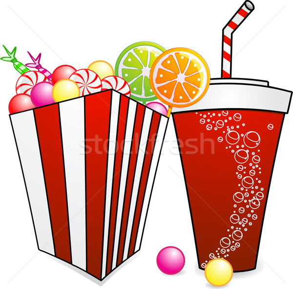 Bonbons soude cartoon image carton Photo stock © elaine