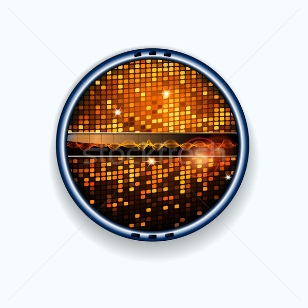 Disco muur grens geluidsgolven metalen knoppen Stockfoto © elaine