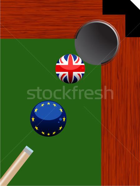 бассейна бильярдных дыра Европа британский Сток-фото © elaine