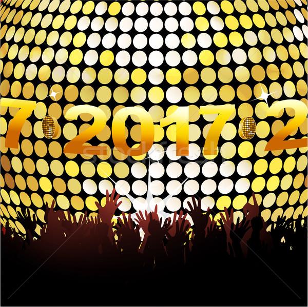 Vinte dezessete luzes multidão dourado Foto stock © elaine