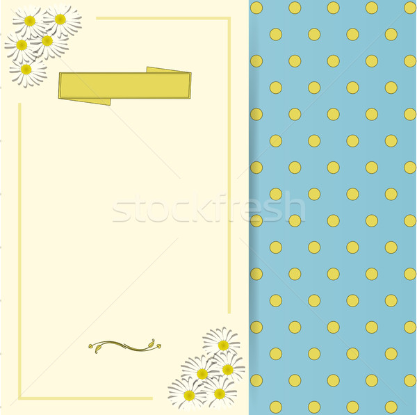 Vintage spring invite with flowers and banner Stock photo © elaine