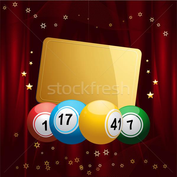 Bingo Noel hediye etiket kırmızı Stok fotoğraf © elaine