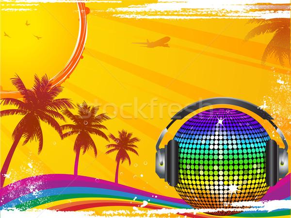 Stok fotoğraf: Sıcak · tropikal · dans · disko · topu · ayna · top
