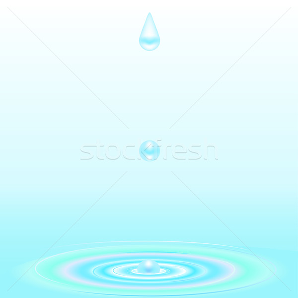 Water droplet and ripple background Stock photo © elaine