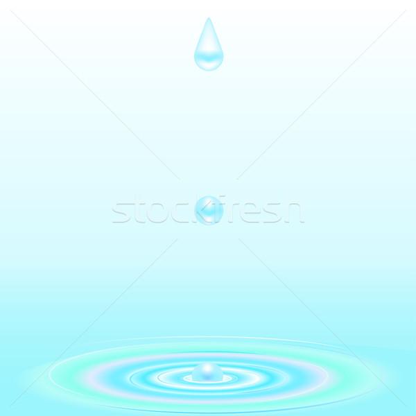 Water druppel rimpeling zwembad Stockfoto © elaine