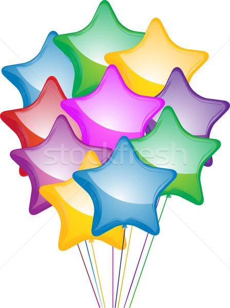 Star ballons coloré anniversaire Photo stock © elaine